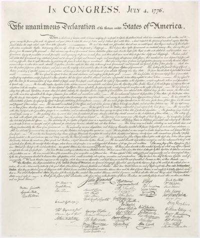 An image of The Declaration of Independence