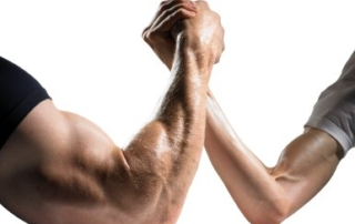 Leadership Weakness Depicted Through Arm Wrestling