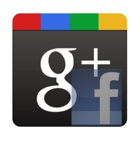 Google Plus Logo vs. Facebook Logo - Google Winning