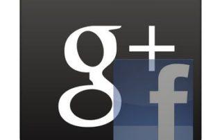 Google Plus Logo vs. Facebook Logo - Google Winning