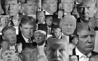 Donald Trump - Many Faces - Many Frowns