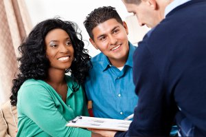 Diverse Couple Gaining Using an Employee Assistance Program