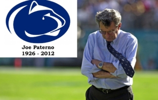 Joe Paterno w/ Nittany Lion Crying - In Memorial
