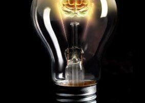 Innovation Light Bulb With Brain Power