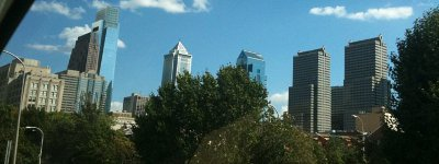 Philly - View From Car as We Drive In