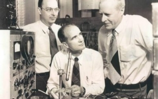 John Bardeen, William Shockley and Walter Brattain at Bell Labs