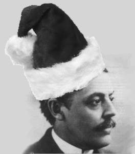 Eli Lilly in a Santa Hat