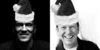 Tony Dungy and Michael Hyatt in Santa Hats - Christmas Spirit