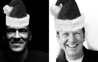 Tony Dungy and Michael Hyatt in Santa Hats - Christmas Spirit