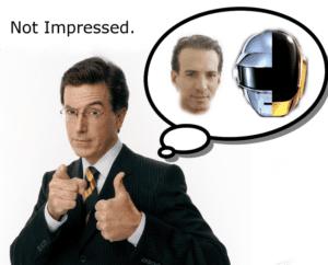Stephen Colbert is Not Impressed with Van Toffler or Daft Punk