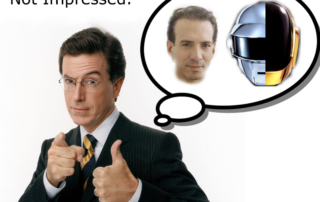 Stephen Colbert is Not Impressed with Van Toffler or Daft Punk
