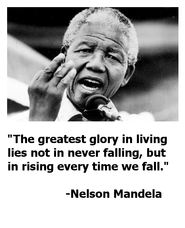 Quotes On Falling And Getting Back Up: Nelson Mandela Quote Graphics And Servant Leadership