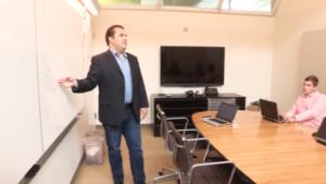 Ben Lichtenwalner teaching servant leadership in a corporate setting.