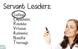 Servant Leadership Acronym - Selfless Circled