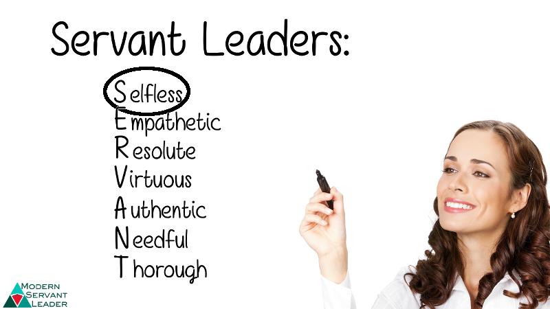 Servant Leadership Acronym - Selfless Circled