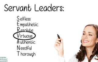 Servant Leadership Acronym - Virtuous