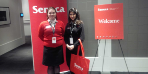 Students from Seneca College Hospitality and Tourism at Industry Think Tank