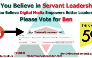 Servant Leadership and Digital Media for Thinkers 50