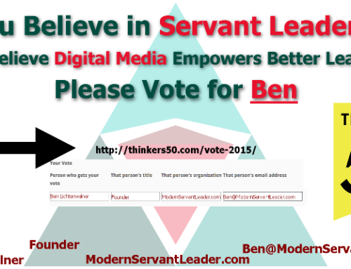 Please Vote for Modern Servant Leader Today!