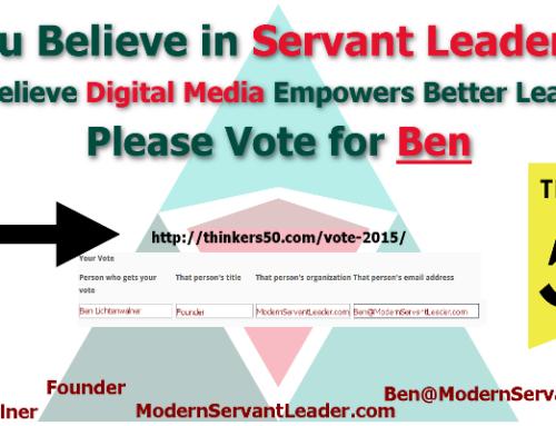 Please Vote for Modern Servant Leader Today!