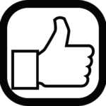 The thumbs up icon represents the social media era of leadership communications