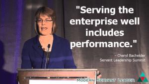 Cheryl Bachelder Quote - Serving the enterprise includes performance.