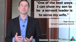 Matt Tenney Quote - One of the best ways I can my son how to be a servant leader is to serve mu wife.