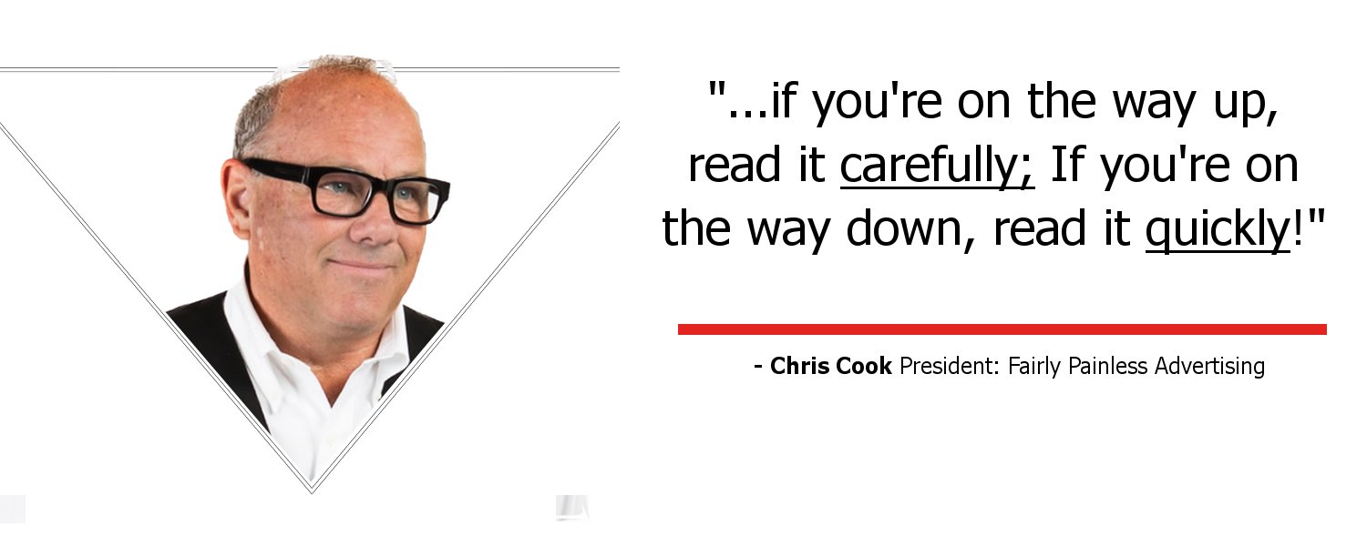 Paradigm Flip Book Testimonial from Chris Cook President of Fairly Painless Advertising