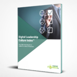 Digital Leadership Culture Index Report Cover - Businessman Checking Feedback Rating Boxes
