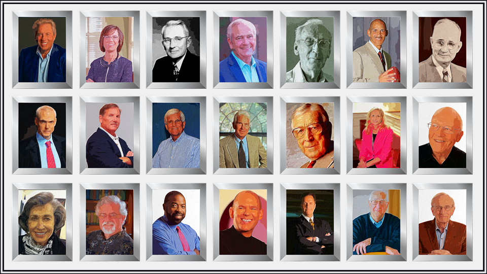 This Program is Built Upon Dozens of Other Leadership Models - Images of dozens of leadership experts included in this program